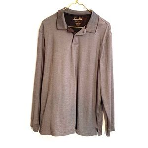 [Tasso Elba] Long Sleeve Polo Shirt - Size Large